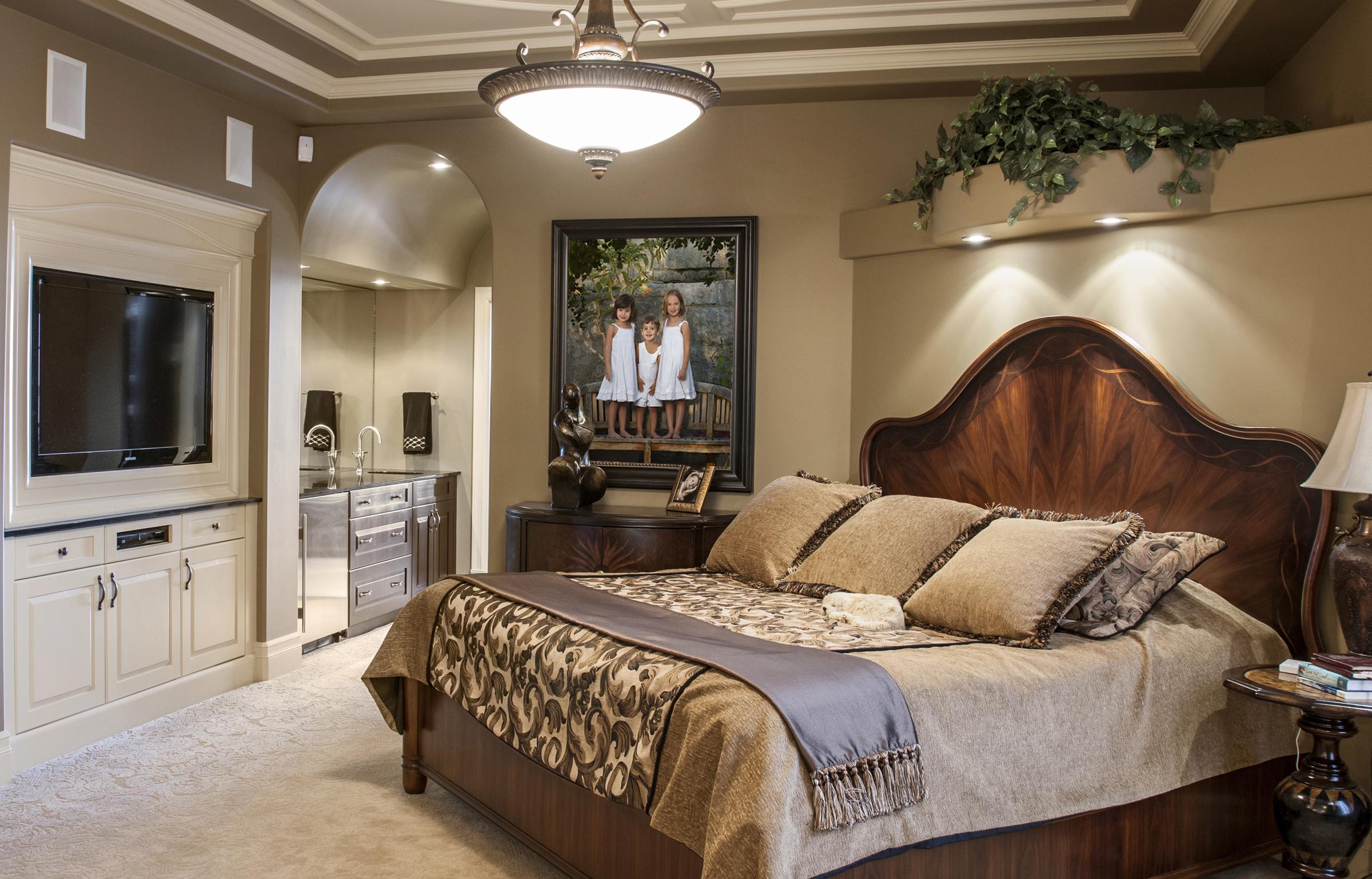 Portrait in bedroom
