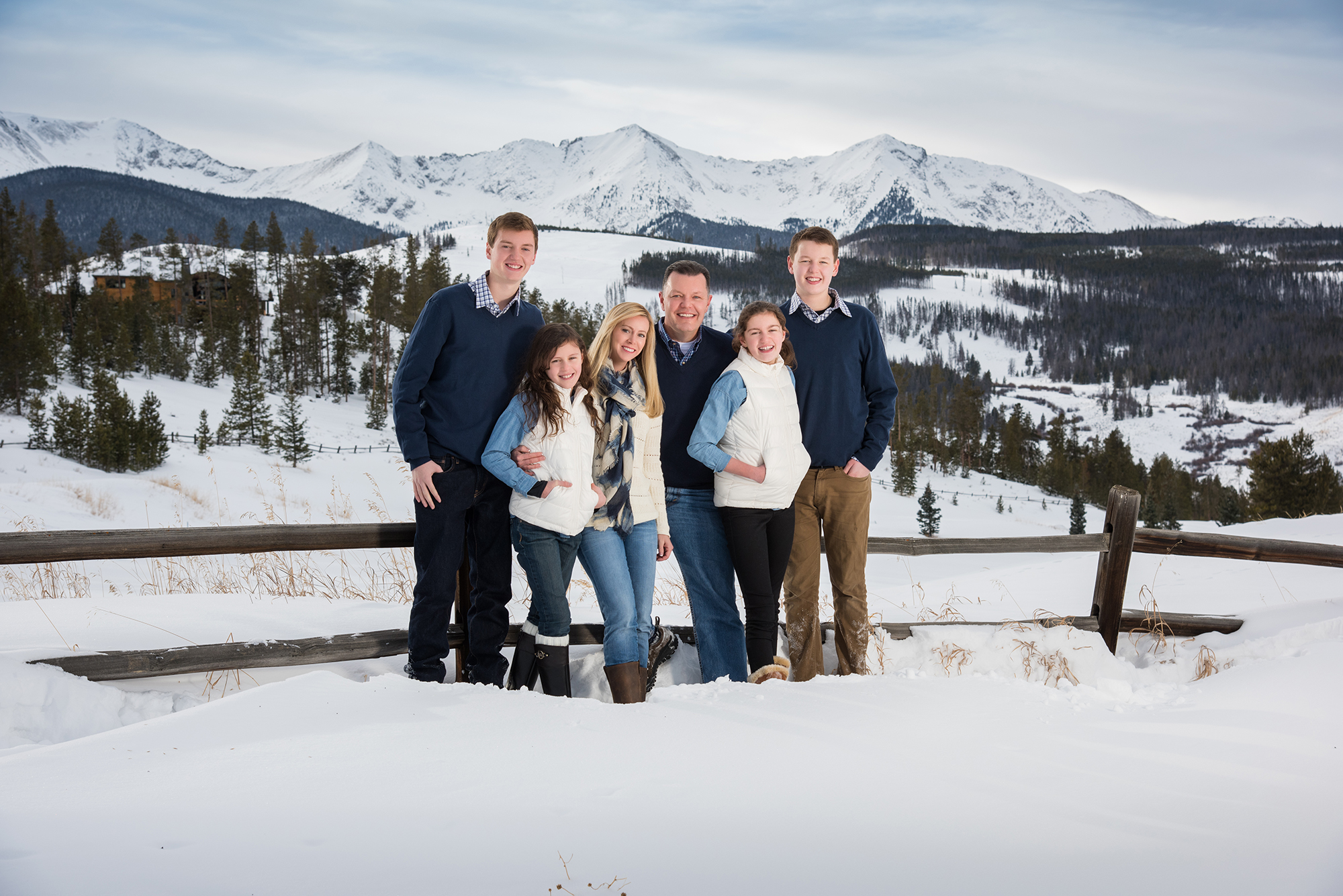 Family portrait in Breckenridge