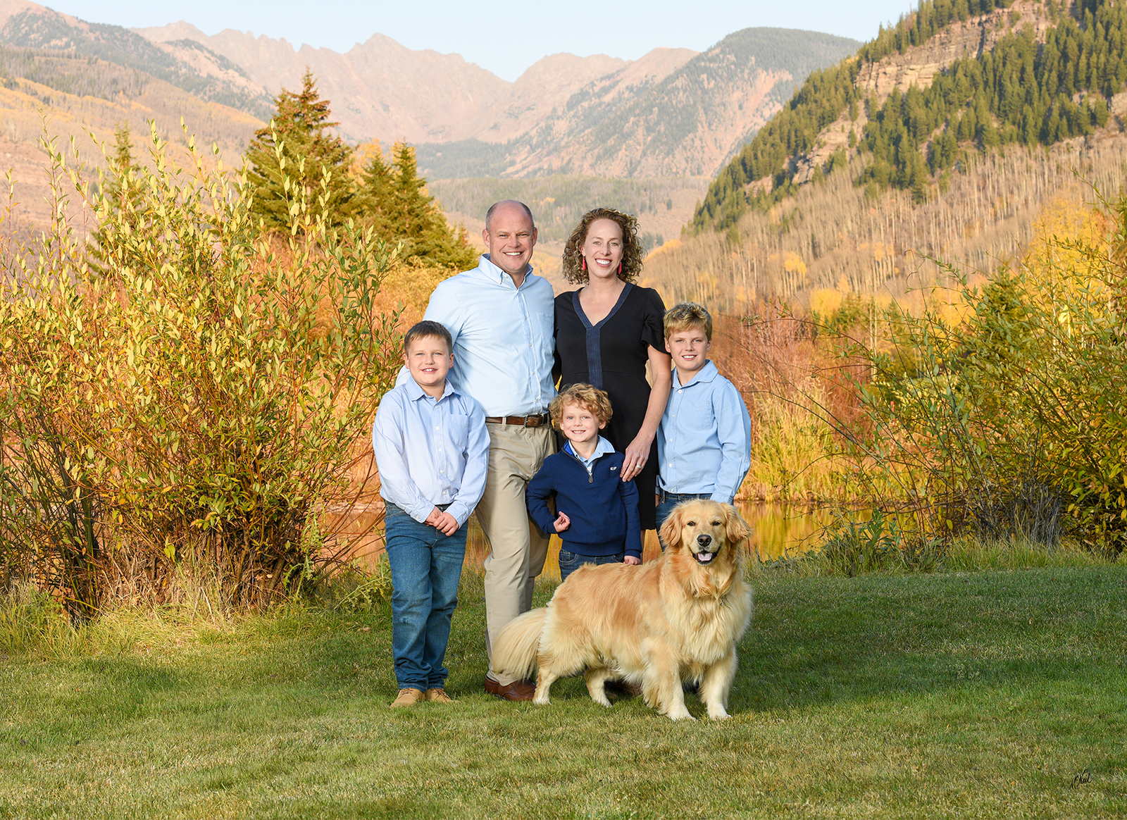Family portrait in Vail